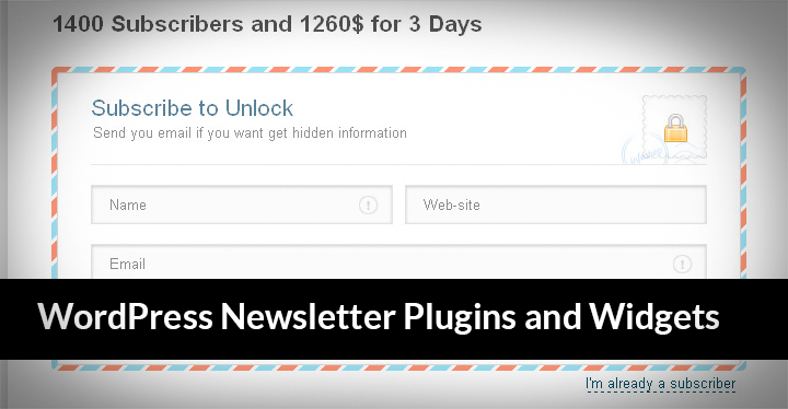 Newsletter plugins for WordPress