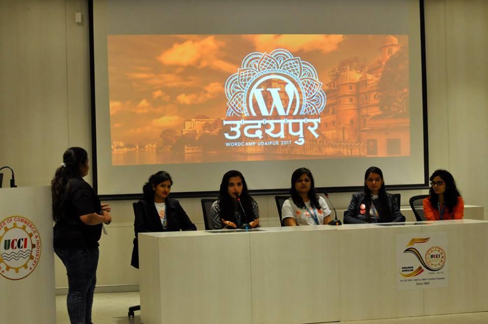panel discussion 'Women in WordPress'